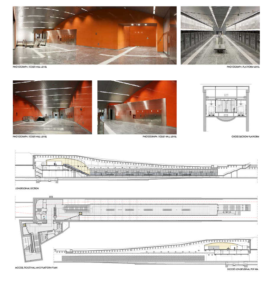 New station (Can Zam) on line 9 of the Barcelona metro Drafting of the plan for preparation and facilities