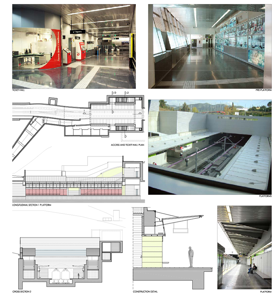 New station (Torre-Baró-Vallbona) on line 11-Light rail of the Barcelona metroImplmenetation project of architecture and facilities