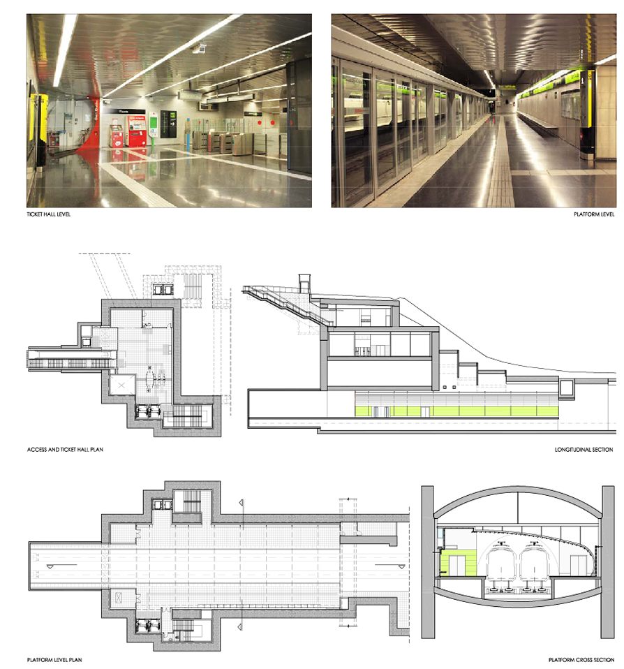New satation (Can Cuiàs) on Line 11-Light rail of the Barcelona MetroImplementation project of architecture and facilities